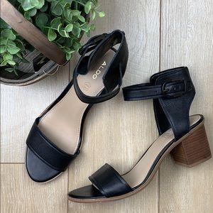 ALDO like new leather heeled sandals